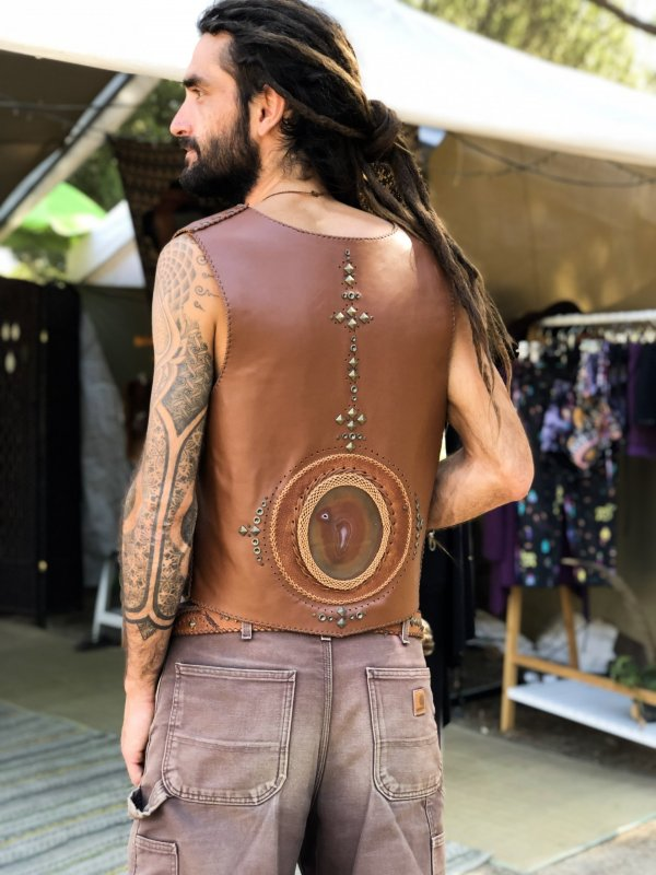 Leather Vest by Siga Tribal