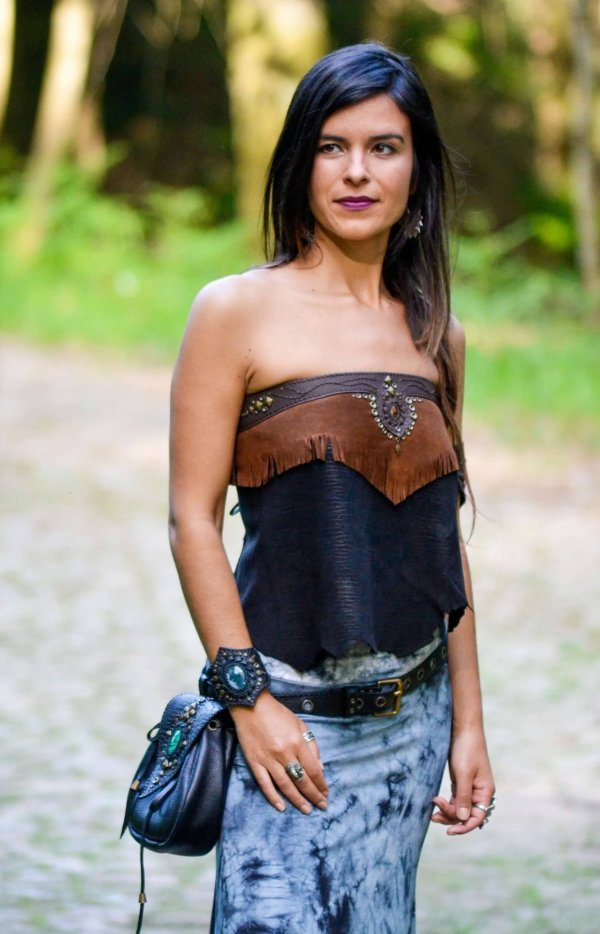 Strapless top by Siga Tribal