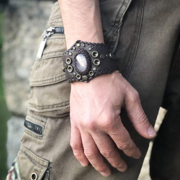 Bracelet with Rose Quartz by Siga Tribal