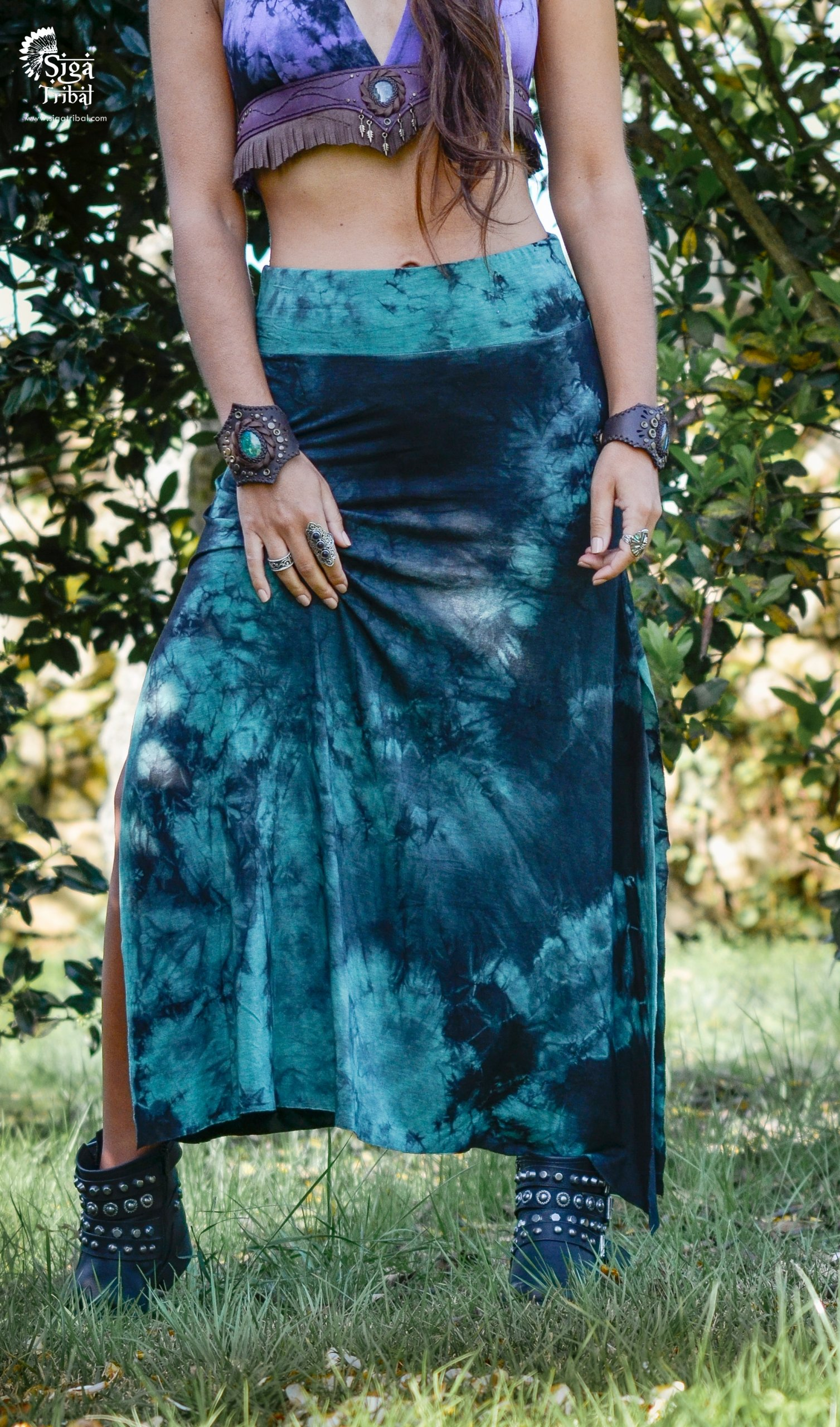 Skirt Teal by Siga Tribal