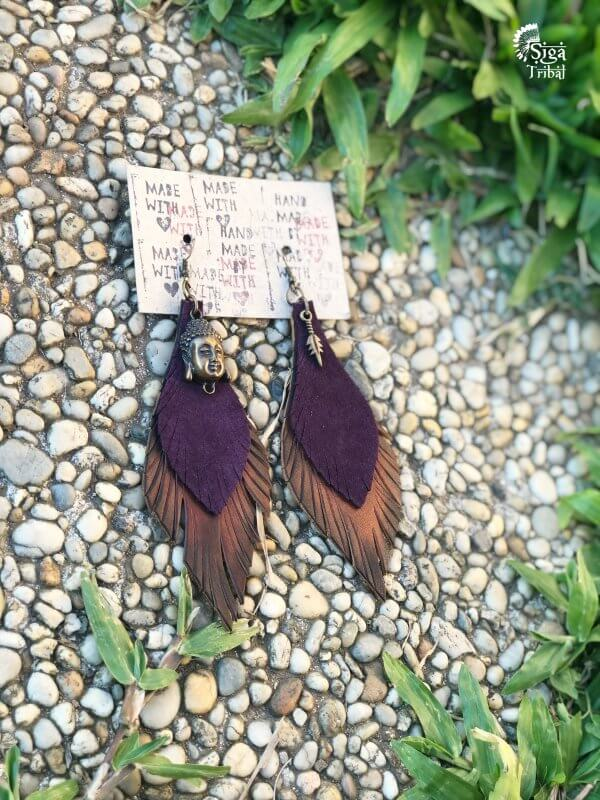 Earrings Buddha by Siga Tribal