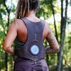 Leather Vest with Agate Stone by Siga Tribal