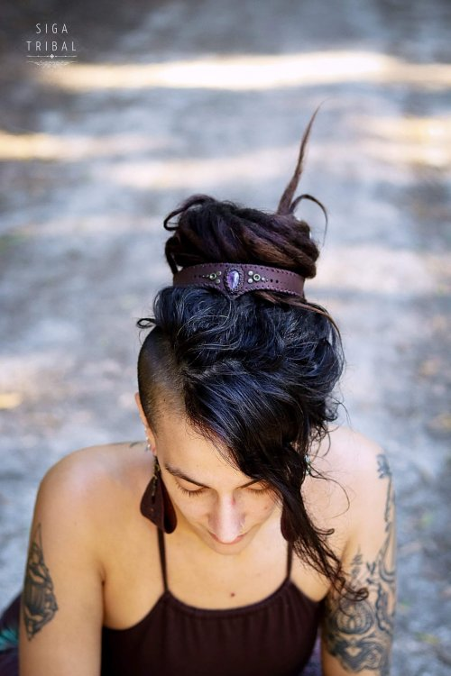Head Piece with amethyst by Siga Tribal