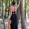 Black Maxi Skirt Siga Tribal