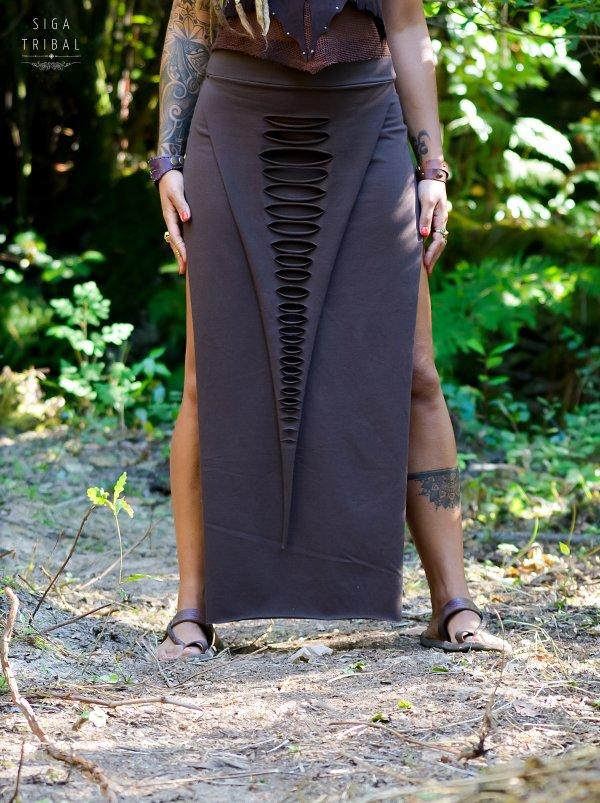 Maxi Skirt Brown by Siga Tribal