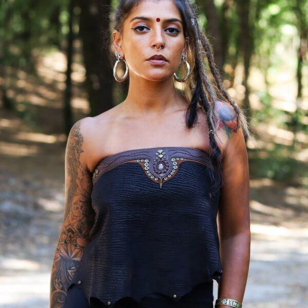 Handmade Leather Top by Siga Tribal