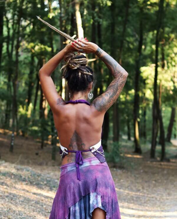 Purple Handmade Top by Siga Tribal