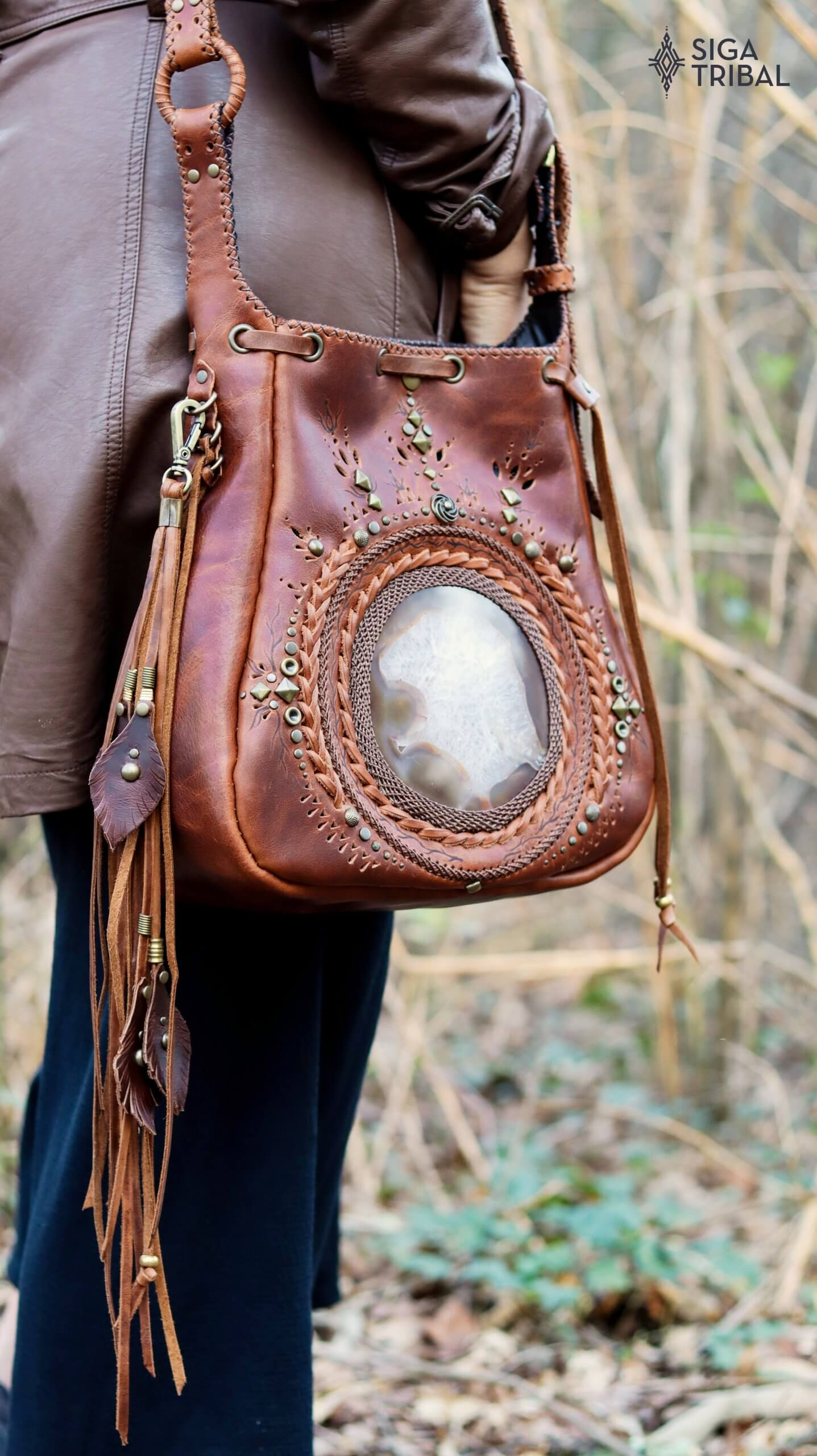 Tan Bag by Siga Tribal