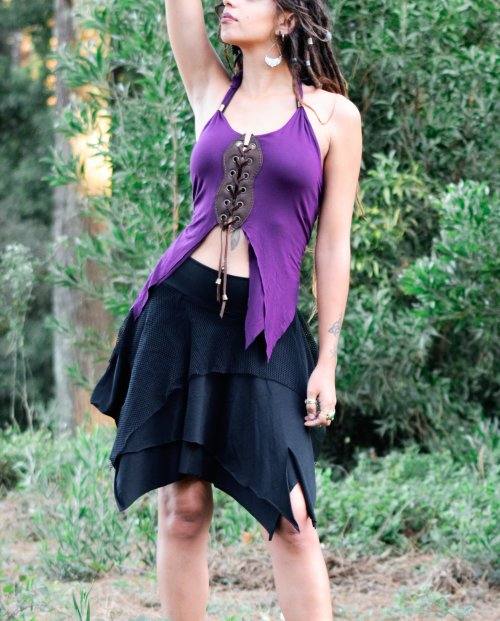 Purple Butterfly Top by Siga Tribal