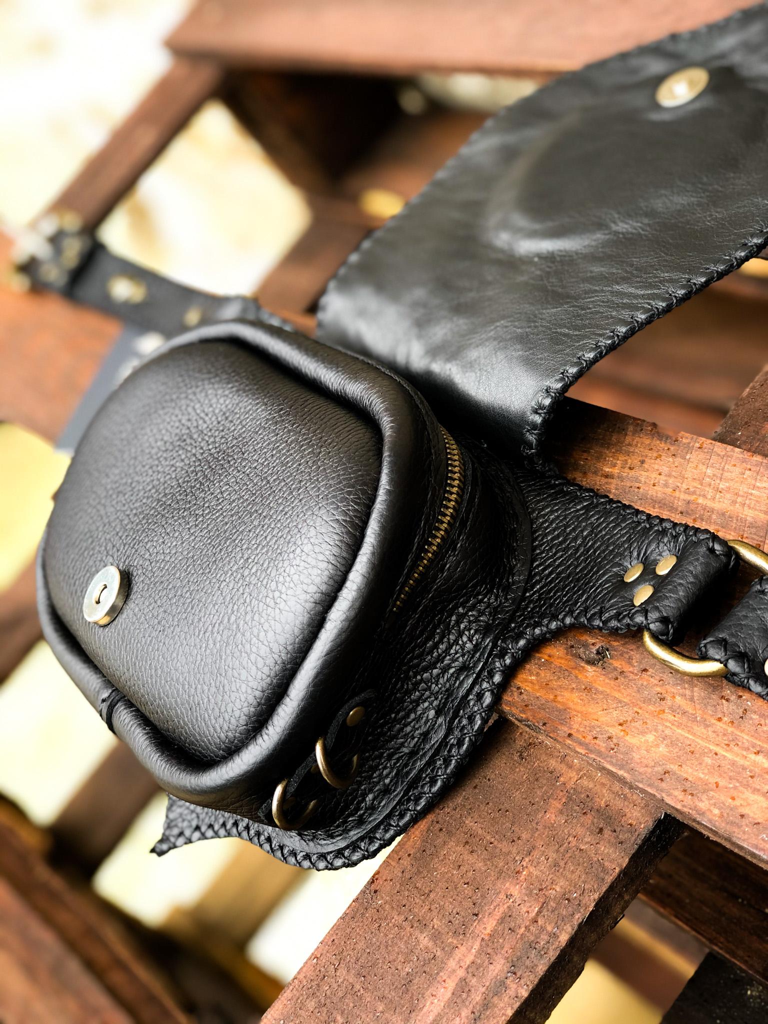 Purple Agate Belt Bag by Siga Tribal
