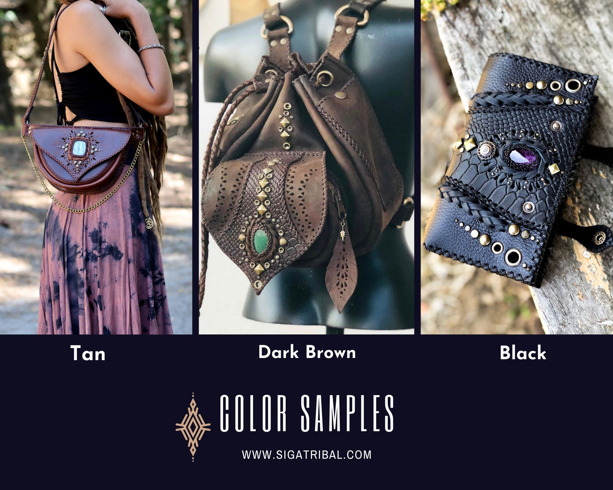 Color samples for bags